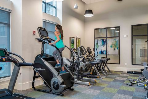 Stairmaster in Camden Washingtonian Apartments Fitness Center in Gaithersburg, Maryland