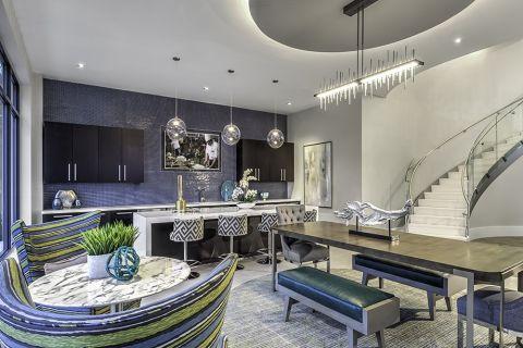Chef-Style Demo Kitchen at Camden Washingtonian Apartments in Gaithersburg, MD