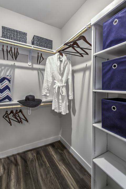 Large Walk-In Closet at Camden Washingtonian Apartments in Gaithersburg, MD