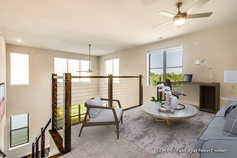 Loft style floorplans available at Camden Washingtonian Apartments in Gaithersburg, MD