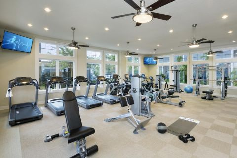 Fitness Center at Camden Waterford Lakes Apartments in Orlando, FL