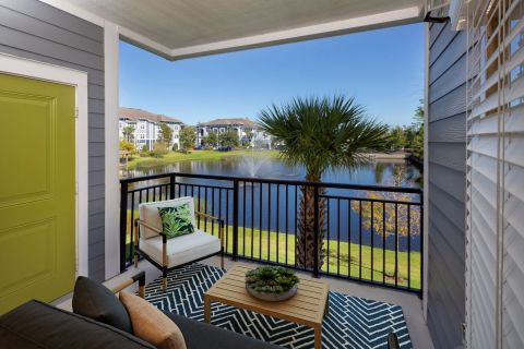 Balcony with View at Camden Waterford Lakes Apartments in Orlando, FL