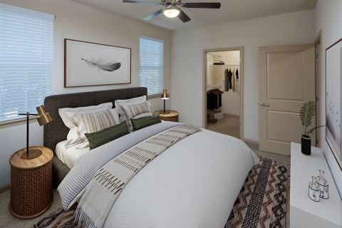 Bedroom at Camden Waterford Lakes Apartments in Orlando, FL