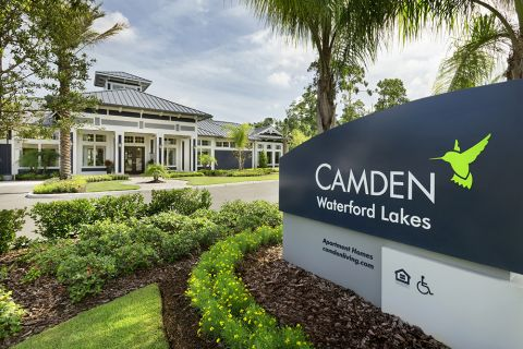 Entrance at Camden Waterford Lakes Apartments in Orlando, FL