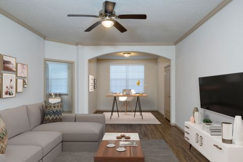 Solarium Home Office at Camden Waterford Lakes Apartments in Orlando, FL