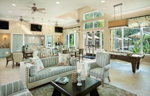 Clubhouse at Camden Westchase Park Apartments in Tampa, FL