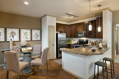 Kitchen at Camden Westchase Park Apartments in Tampa, FL