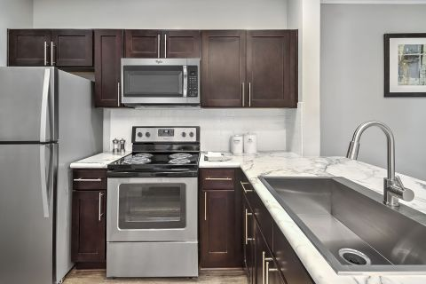 Kitchen at Camden Westwood Apartments in Morrisville, NC