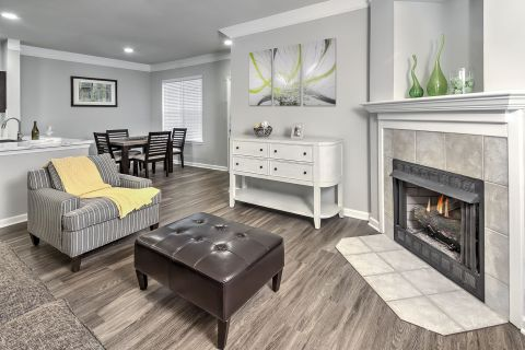Living Room at Camden Westwood Apartments in Morrisville, NC