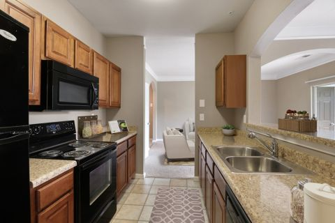 Kitchen at Camden Westwood Apartments in Morrisville near Raleigh, NC