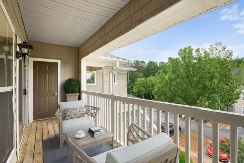 Balcony at Camden Westwood Apartments in Morrisville near Raleigh, NC