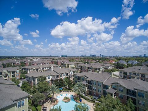 Aerial View of Community at Camden Whispering Oaks Apartments in Houston, TX