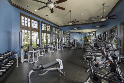 24 Hour Fitness Center at Camden Whispering Oaks Apartments in Houston, TX