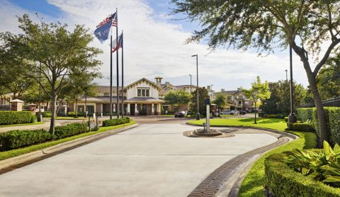 Entrance at Camden Whispering Oaks Apartments in Houston, TX