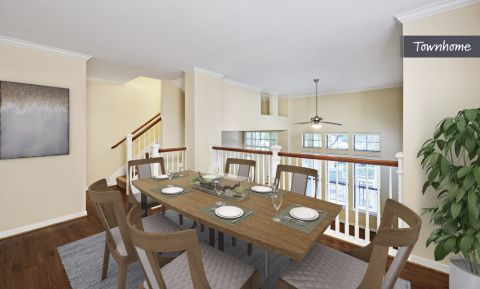 Dining Room at Camden Whispering Oaks Apartments in Houston, TX