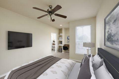 Bedroom with Walk-In Closet at Camden Woodson Park Apartments in Houston, TX