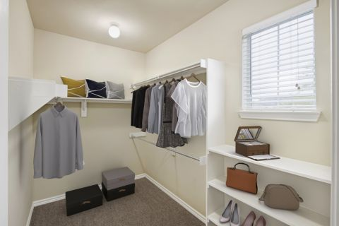 Spacious Walk-In Closet at Camden Woodson Park Apartments in Houston, TX