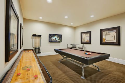 Game Room at Camden Woodson Park Apartments in Houston, TX