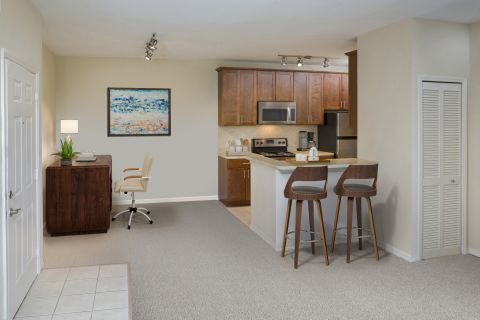 Home Office at Camden World Gateway Apartments in Orlando, FL
