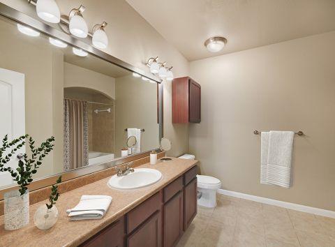 Bathroom at Camden Yorktown Apartments in Houston, TX
