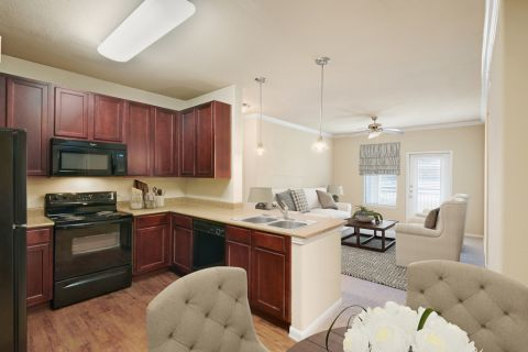 Open Living Space at Camden Yorktown Apartments in Houston, TX