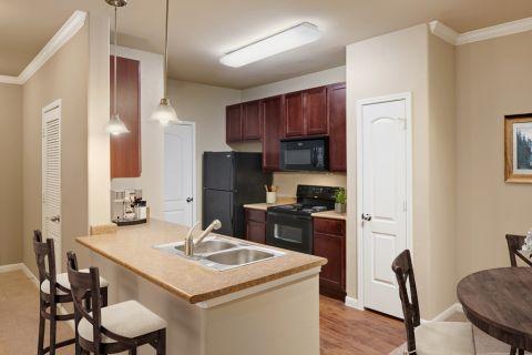 Kitchen at Camden Yorktown Apartments in Houston, TX