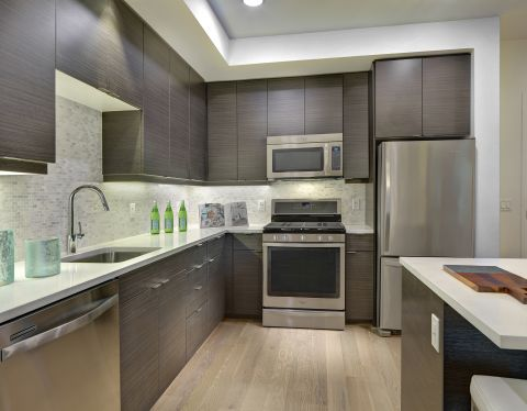 Kitchen at The Camden Apartments in Hollywood, CA