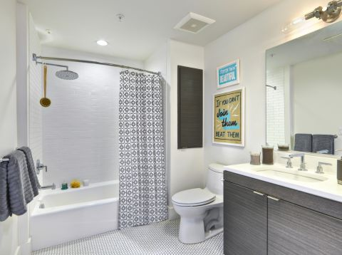 Bathroom at The Camden Apartments in Hollywood, CA