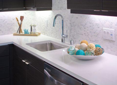 Kitchen Backsplash at The Camden Apartments in Hollywood, CA