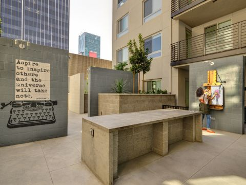 Outdoor Artist Space at The Camden Apartments in Hollywood, CA