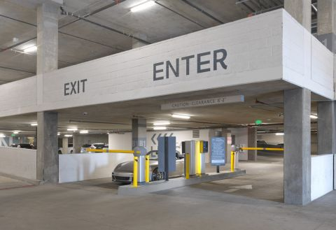 Parking Garage at The Camden Apartments in Hollywood, CA