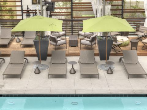 Pool Cabanas at The Camden Apartments in Hollywood, CA