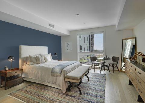 Bedroom in Studio Floor Plan at The Camden Apartments in Hollywood, CA
