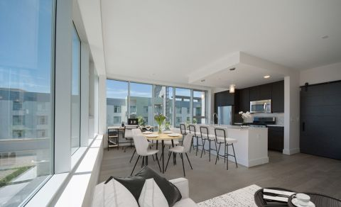 Open concept Penthouse floor plan at The Camden Apartments in Hollywood, CA