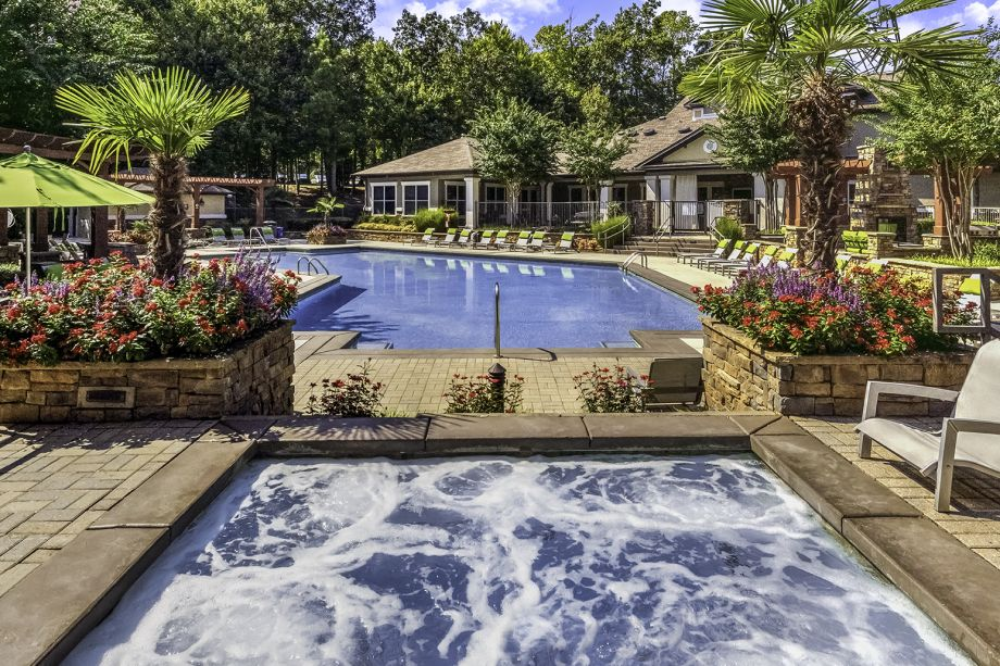 Pool and Hot Tub at Camden Asbury Village Apartments in Raleigh, NC