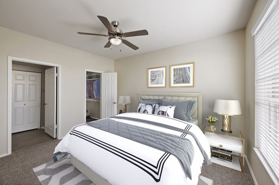 Bedroom at Camden Caley Apartments in Englewood, CO