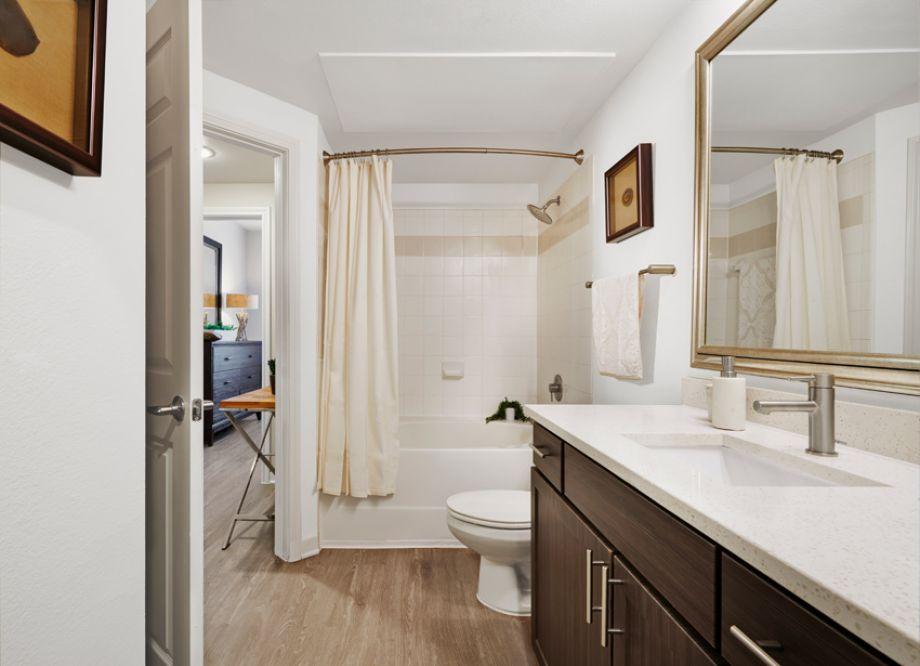 Bathroom at Camden Cedar Hills Apartments in Austin, TX