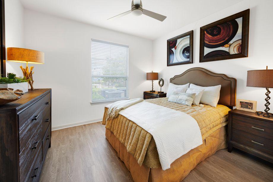 Bedroom at Camden Cedar Hills Apartments in Austin, TX