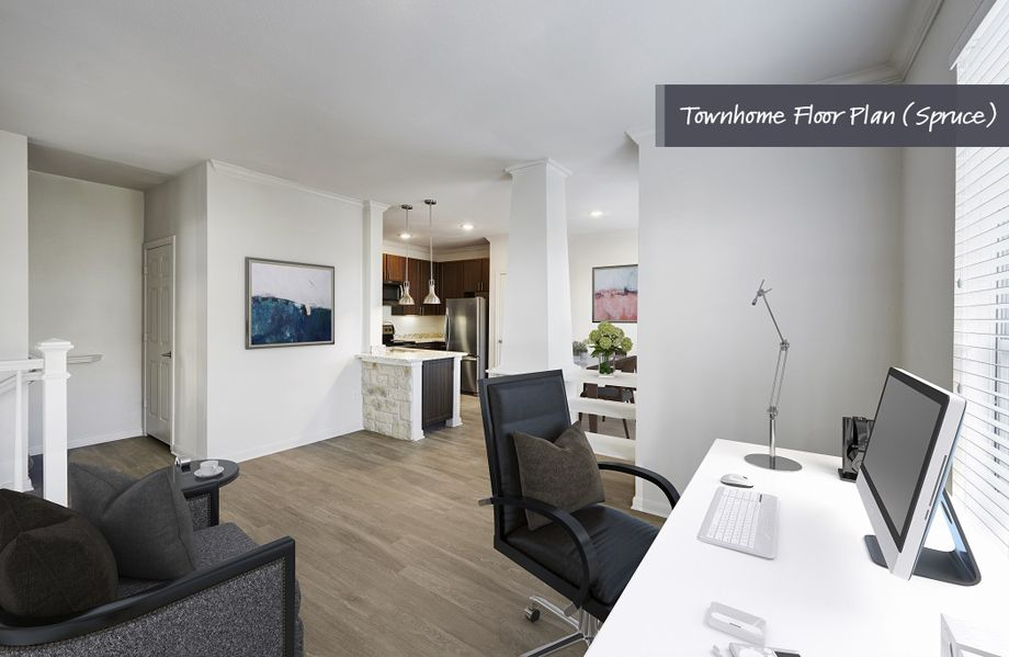 Townhome Flex Space at Camden Cedar Hills Apartments in Austin, TX
