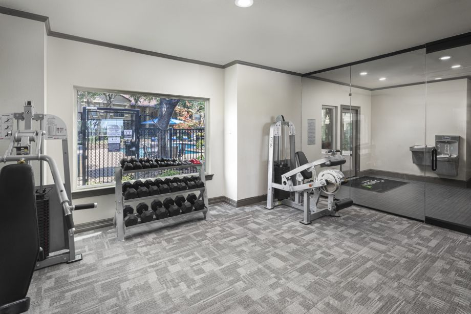 Fitness Center Entry at Camden Cimarron Apartments in Irving, TX