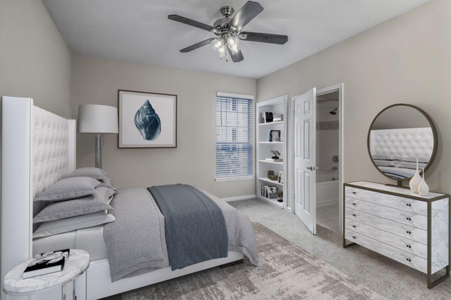 Bedroom at Camden Creekstone Apartments in Atlanta, GA