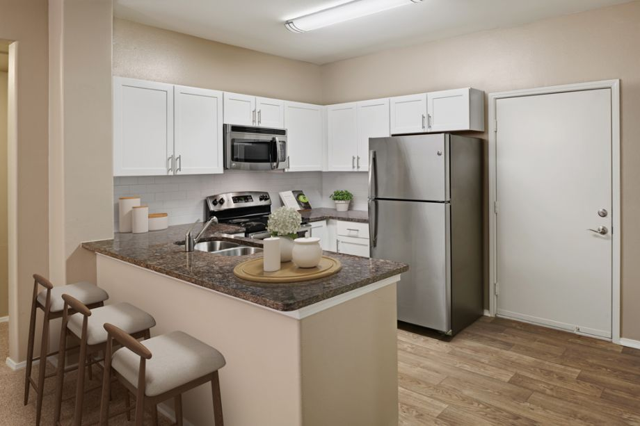 Kitchen at Camden Denver West Apartments in Golden, CO