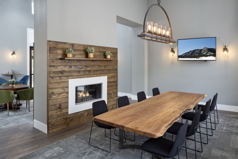 Conference room at Camden Denver West Apartments in Golden, CO