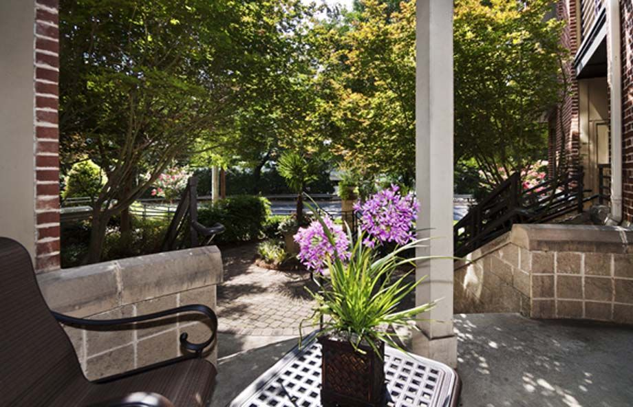 Patio at Camden Dilworth Apartments in Charlotte, NC