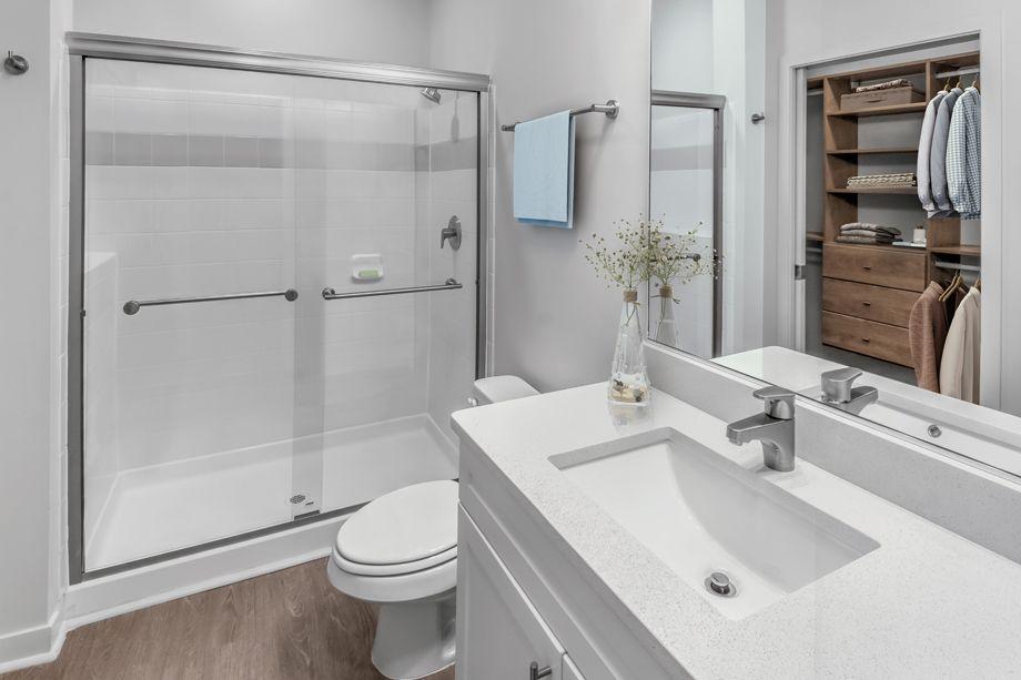 Studio Bathroom at Camden Dilworth Apartments in Charlotte, NC