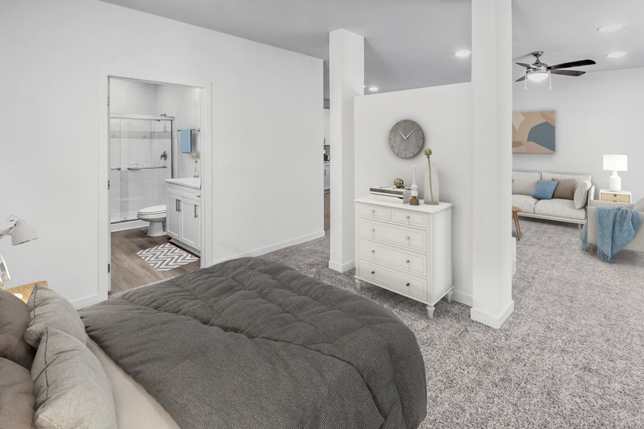 Studio Bedroom at Camden Dilworth Apartments in Charlotte, NC