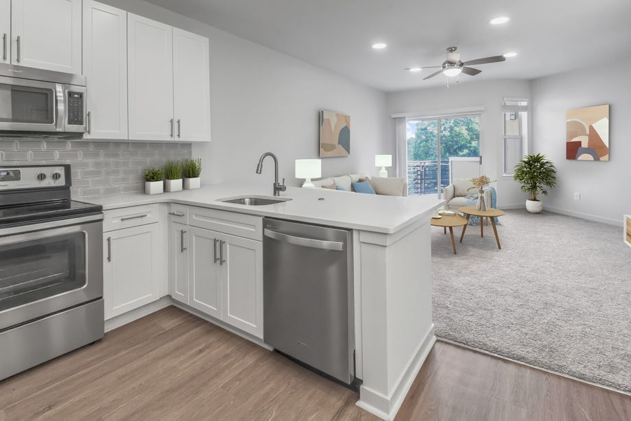 Studio Kitchen at Camden Dilworth Apartments in Charlotte, NC