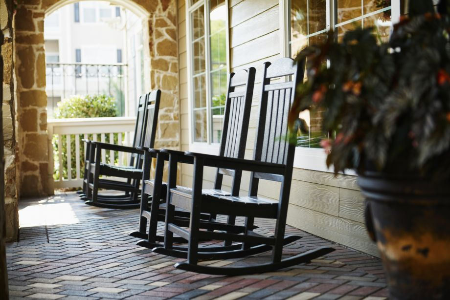 Porch Swings at Camden Downs at Cinco Ranch Apartments in Katy, TX