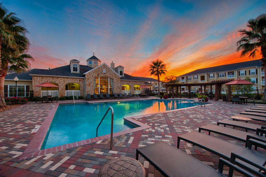 Resort-Style Pool at Camden Downs at Cinco Ranch Apartments in Katy, TX