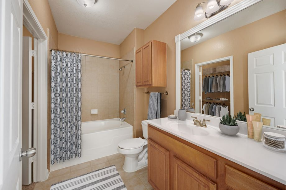 Bathroom at Camden Downs at Cinco Ranch Apartments in Katy, TX
